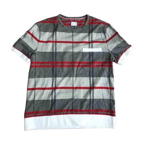 Tee-shirt MONCLER Gris rouge
