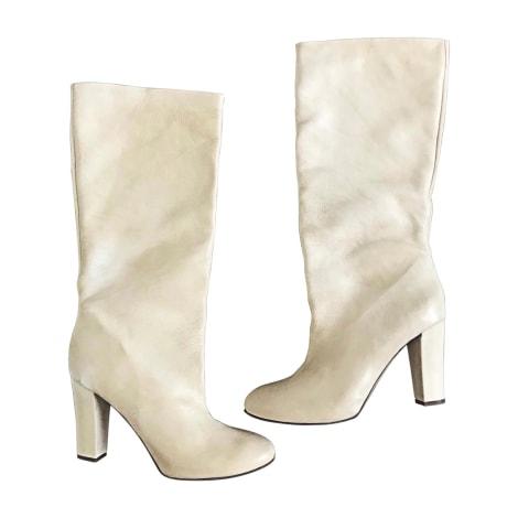 High Heel Boots CHLOÉ White, off-white, ecru