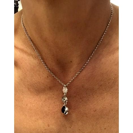 Pendentif, collier pendentif CHARLES JOURDAN Argenté, acier