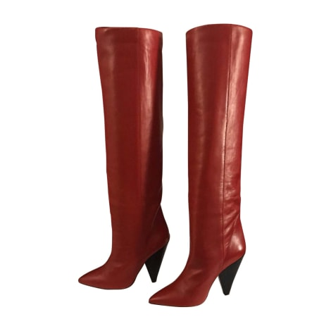 High Heel Boots ISABEL MARANT Red, burgundy