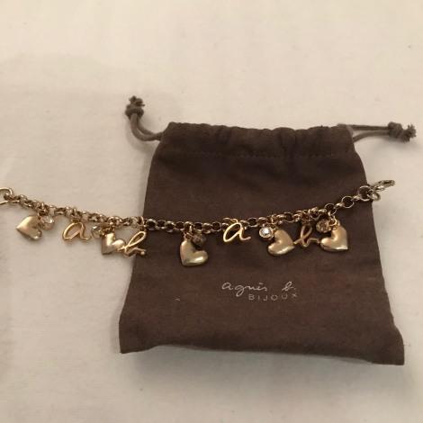 Bracelet AGNÈS B. Doré, bronze, cuivre
