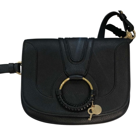 Leather Shoulder Bag SEE BY CHLOE Black