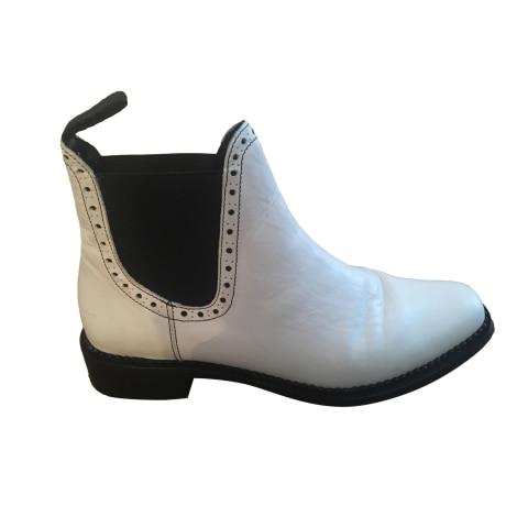 Bottines & low boots plates CLAUDIE PIERLOT Blanc, blanc cassé, écru