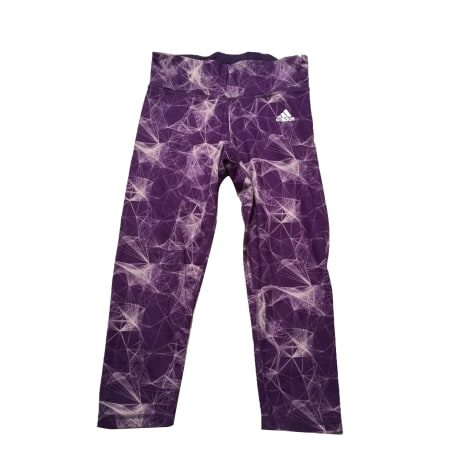 Fitnesshose ADIDAS Violett, malvenfarben, lavendelfarben