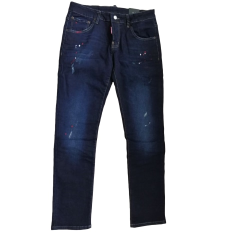 Wide Leg Jeans DSQUARED2 Blue, navy, turquoise