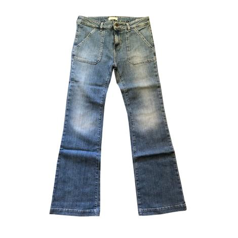 Jeans très evasé, patte d'éléphant BA&SH Jean delavé