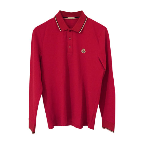 Polo MONCLER Red, burgundy