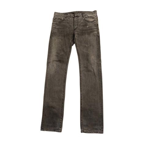 Jeans droit DIOR HOMME Gris, anthracite