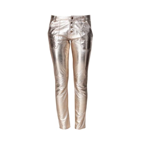 Skinny Pants, Cigarette Pants BA&SH Golden, bronze, copper