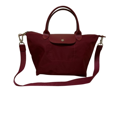 Sac à main en cuir LONGCHAMP Rouge, bordeaux
