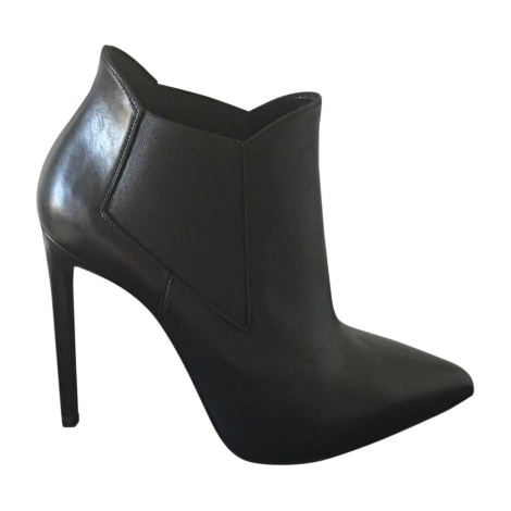 Bottines & low boots à talons SAINT LAURENT Noir