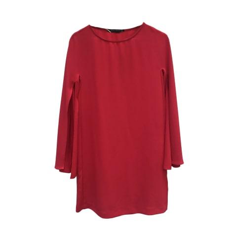 Robe courte ZARA Rouge, bordeaux
