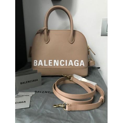 Leather Shoulder Bag BALENCIAGA Beige, camel
