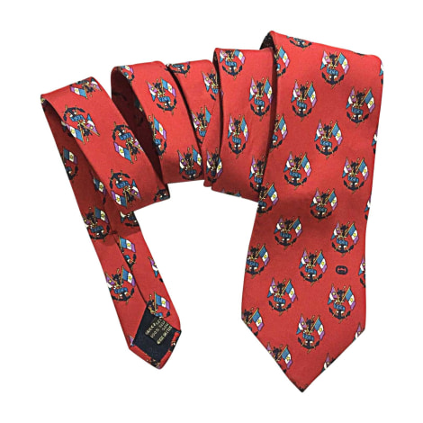 Tie GUCCI Red, burgundy
