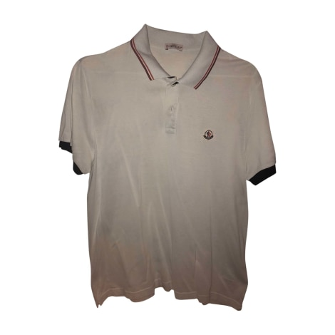 Polo MONCLER White, off-white, ecru