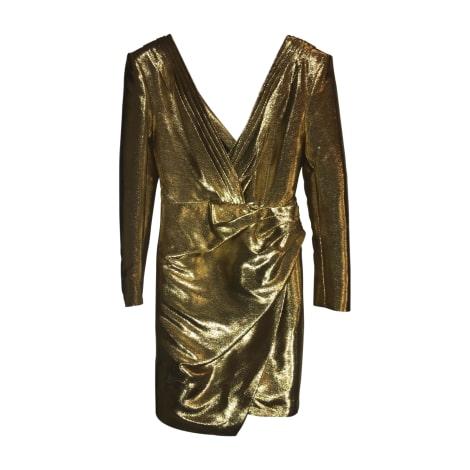 Mini Dress SAINT LAURENT Golden, bronze, copper