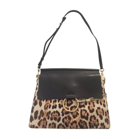 Leather Handbag CHLOÉ Faye Black