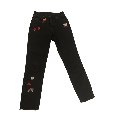 Jeans droit MAJE Noir