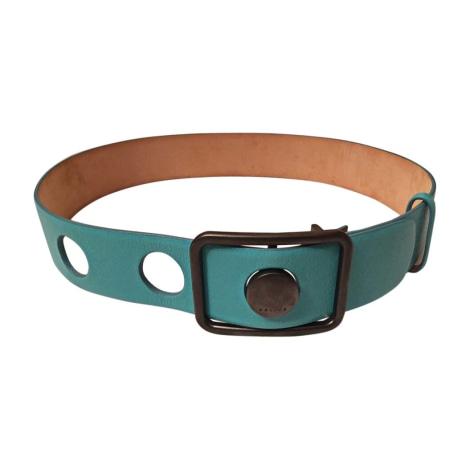 Wide Belt CÉLINE Turquoise