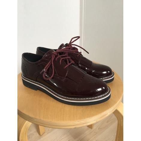 Chaussures à lacets  PROMOD Rouge, bordeaux