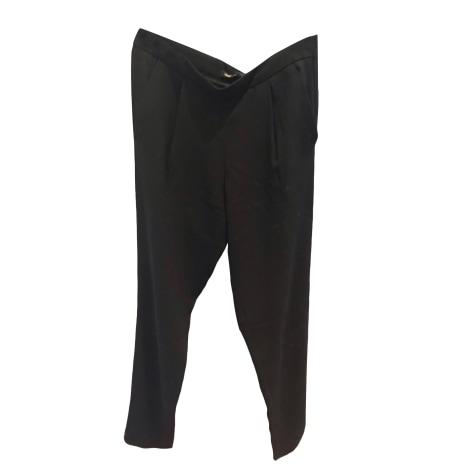 Pantalon carotte MAJE Noir