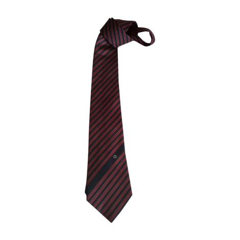 Tie GUCCI Red, burgundy