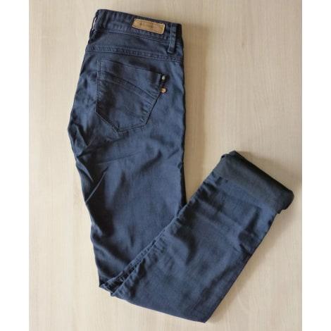 Pantalon slim, cigarette BONOBO Bleu, bleu marine, bleu turquoise