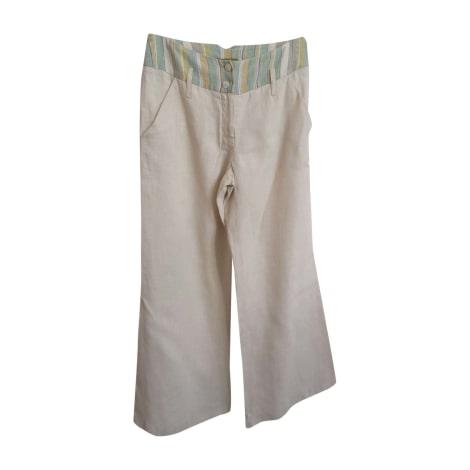 Pantalon large KENZO Beige, camel