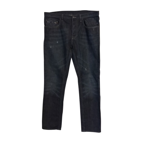 Jeans droit GUCCI Bleu, bleu marine, bleu turquoise