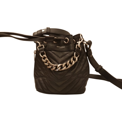 Leather Shoulder Bag SAINT LAURENT Black