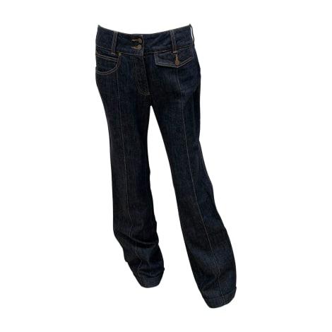 Jeans très evasé, patte d'éléphant ALEXANDER MCQUEEN Bleu, bleu marine, bleu turquoise