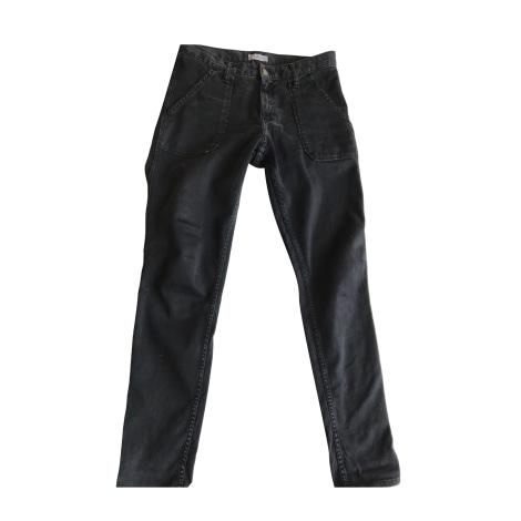 Pantalon slim, cigarette BA&SH Noir