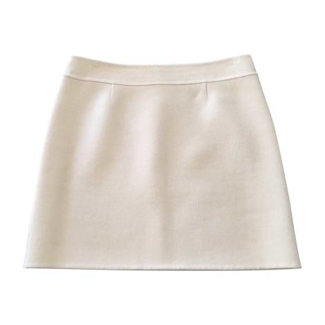Jupe courte CÉLINE Blanc, blanc cassé, écru