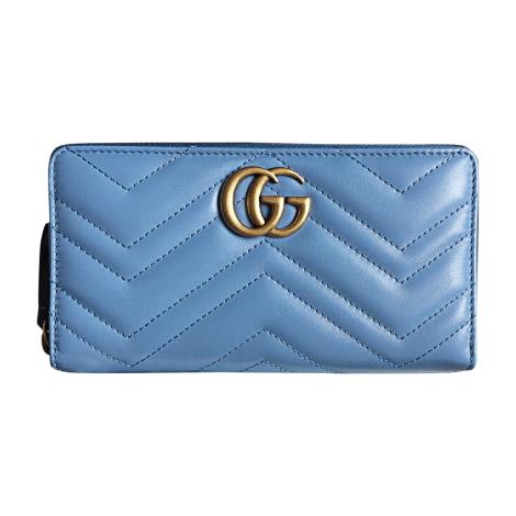 Geldbeutel GUCCI Marmont Blau, marineblau, türkisblau