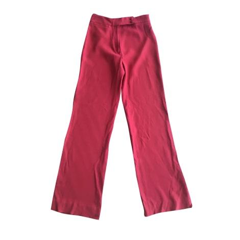 Pantalon évasé SÉZANE Rouge, bordeaux