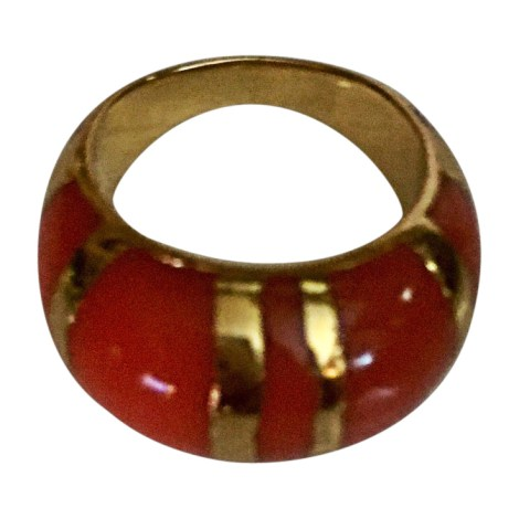 Bague AURELIE BIDERMANN Coral and gold