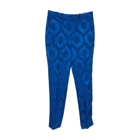 Pantalon droit ISABEL MARANT Bleu, bleu marine, bleu turquoise