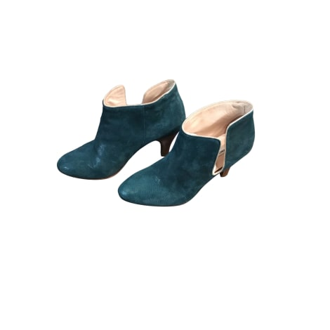 High Heel Ankle Boots PATRICIA BLANCHET Blue, navy, turquoise