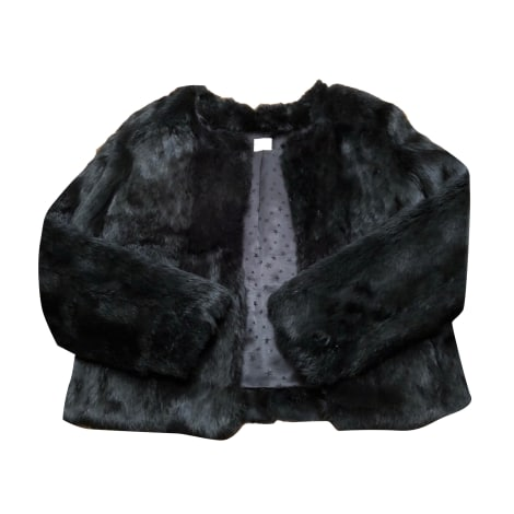 Blouson, veste en fourrure DES PETITS HAUTS Noir