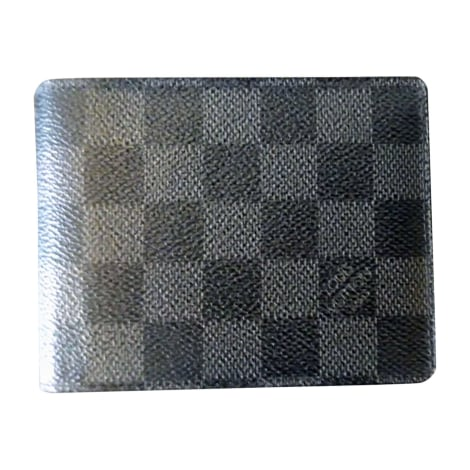 Wallet LOUIS VUITTON Gray, charcoal