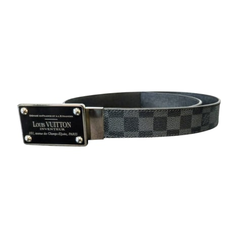 Belt LOUIS VUITTON Gray, charcoal