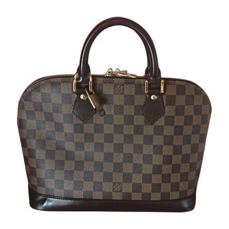 Leather Handbag LOUIS VUITTON Damier ébène