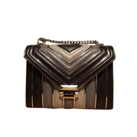 Leather Shoulder Bag MICHAEL KORS Tricolore noir gris et gris clair