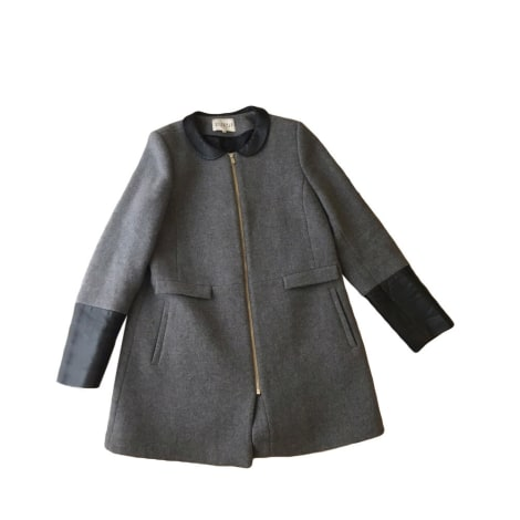 Manteau CLAUDIE PIERLOT Gris, anthracite