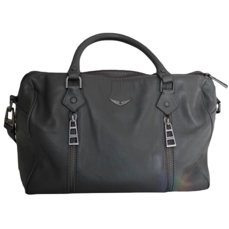 Leather Shoulder Bag ZADIG & VOLTAIRE Gray, charcoal