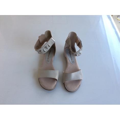 Sandales plates  TAMARIS Beige, camel