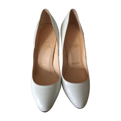 Pumps, Heels CHRISTIAN LOUBOUTIN Fifi White, off-white, ecru