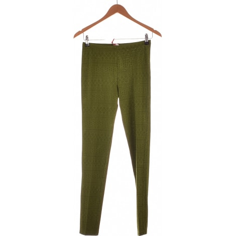 Pantalon slim, cigarette AVENTURES DES TOILES Vert