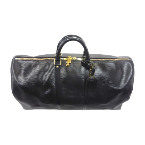 Borsa XL in pelle LOUIS VUITTON Keepall Nero