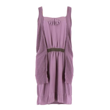 Robe mi-longue MAJE Violet, mauve, lavande